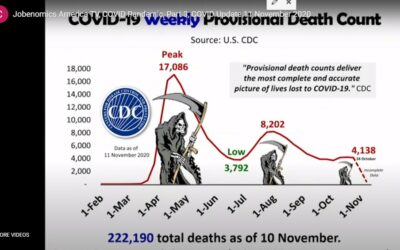 Jobenomics America TV, COVID Pandemic, Part 3, COVID Update- 11 November 2020